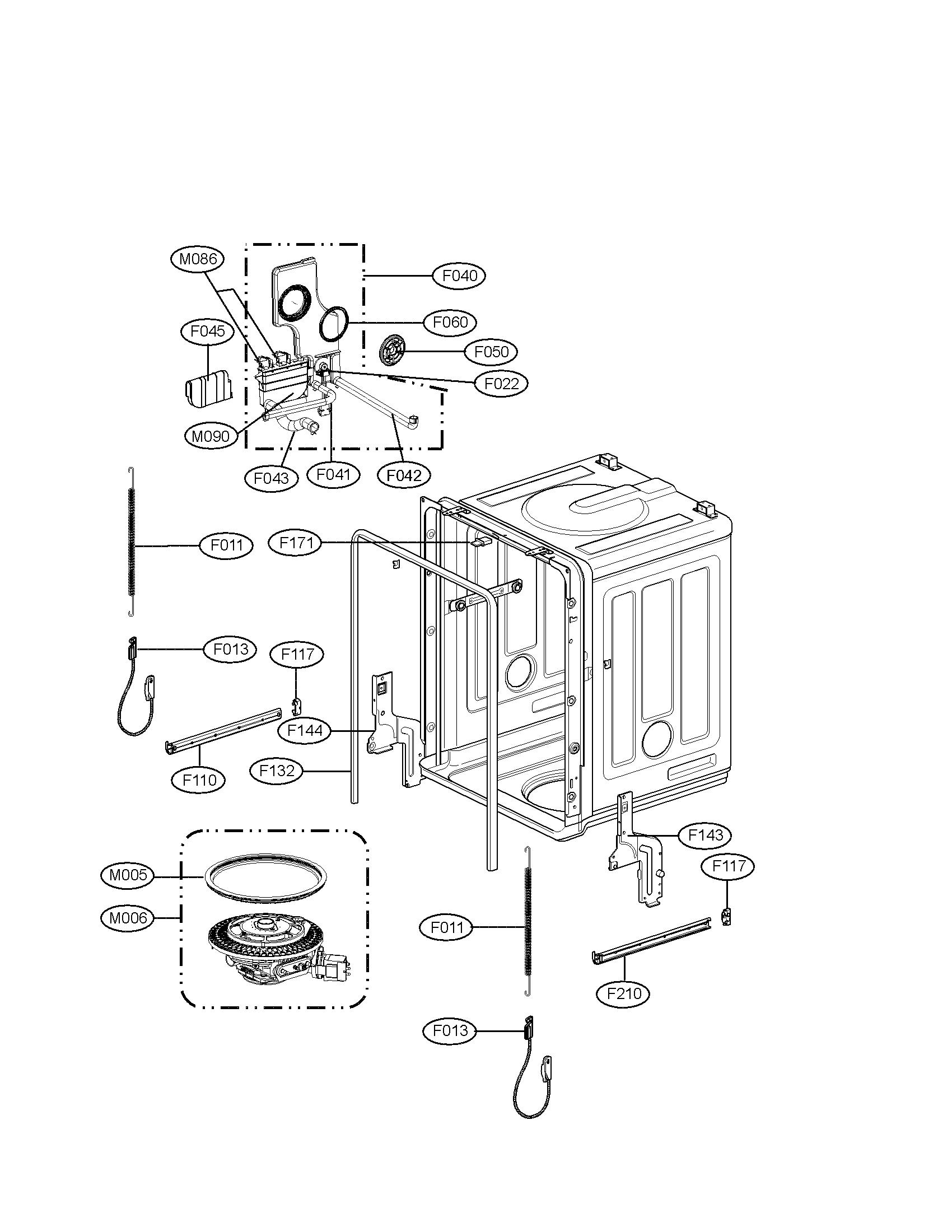 Lg model LDS5811BB dishwasher genuine parts