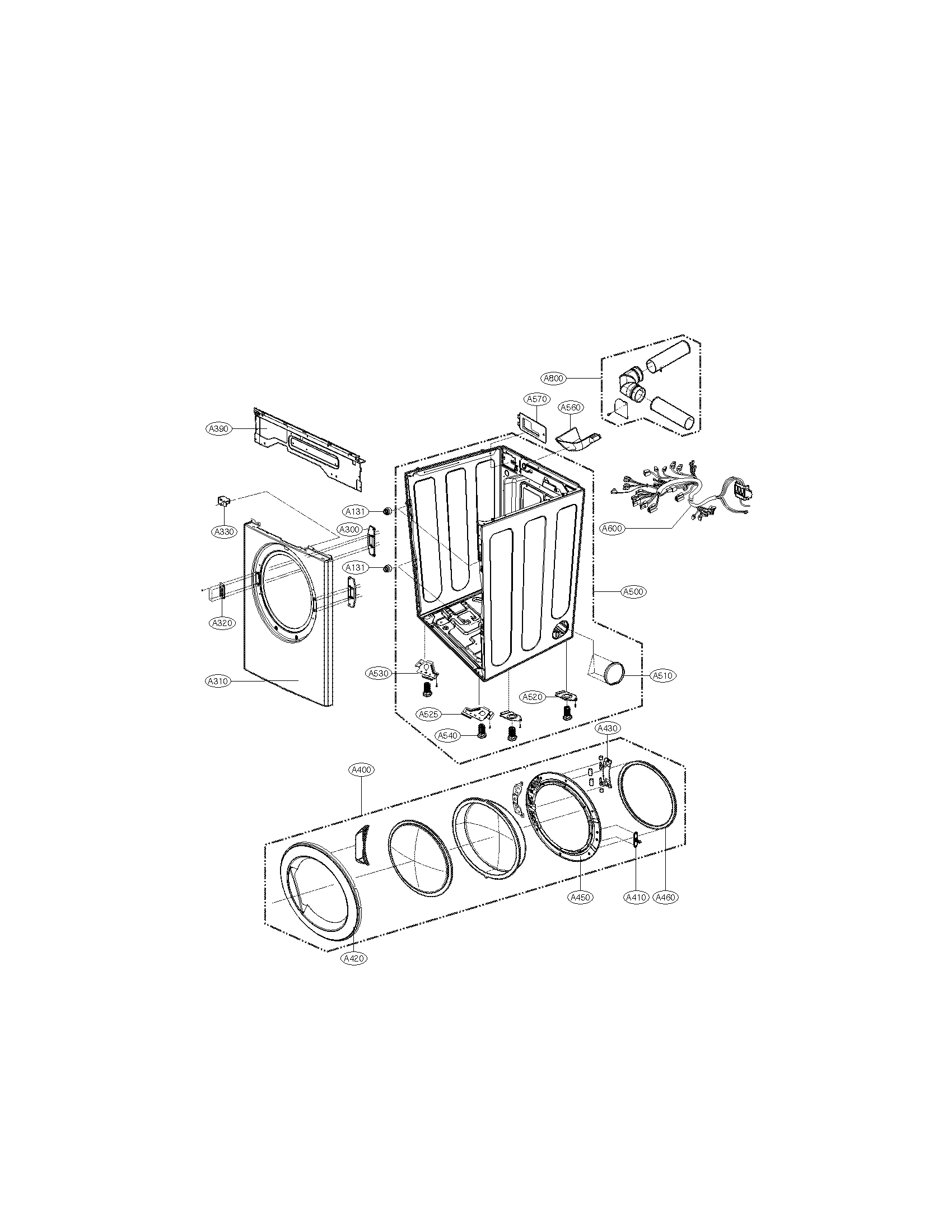 Lg model DLE1310W residential dryer genuine parts