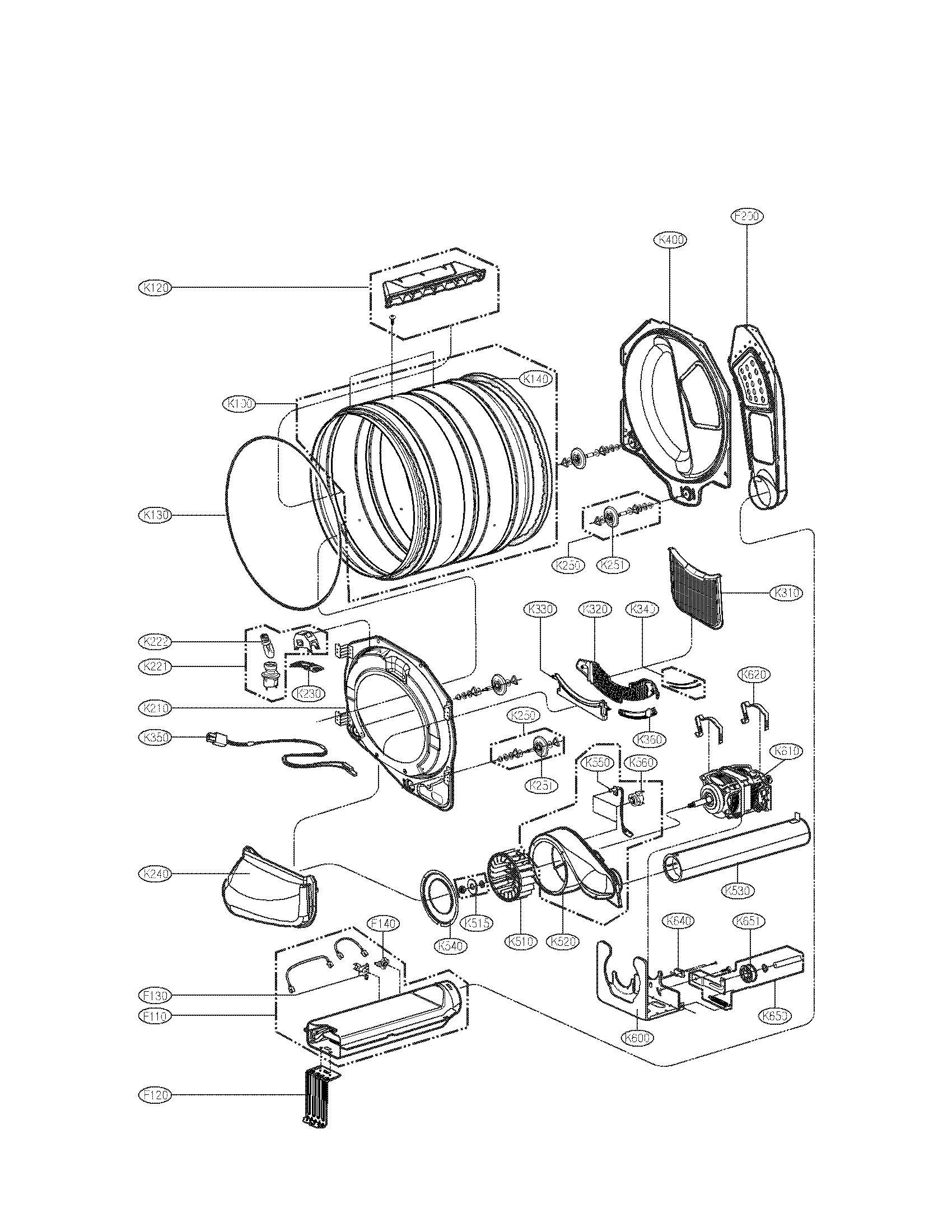 Lg model DLG3788W residential dryer genuine parts