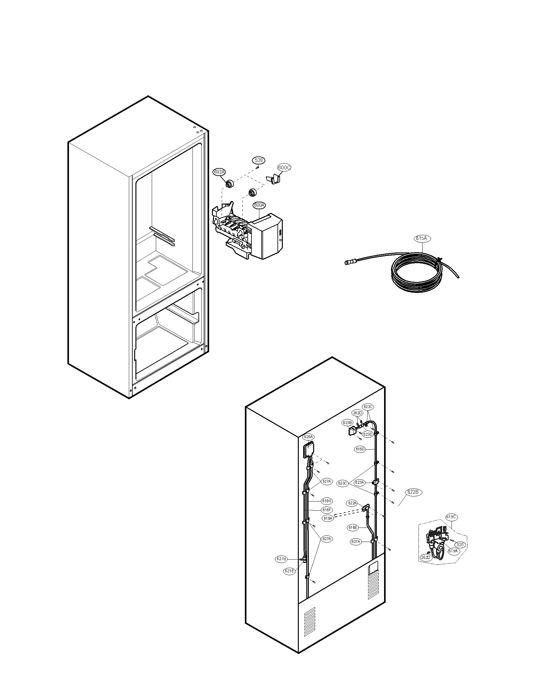 Kenmore-Elite model 79577249601 bottom-mount refrigerator