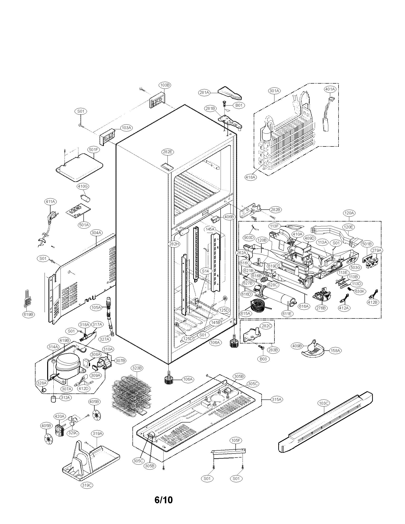 Kenmore model 79579302901 top-mount refrigerator genuine parts