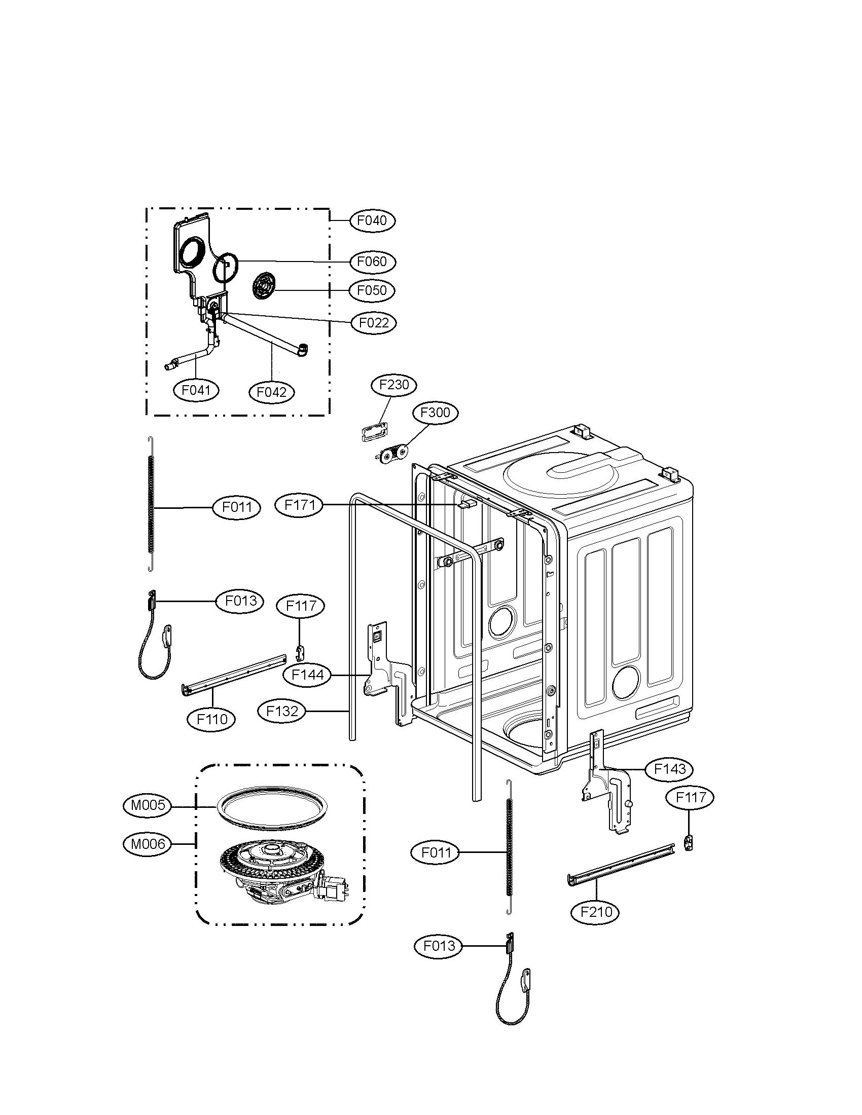 Lg model LDF7932BB dishwasher genuine parts