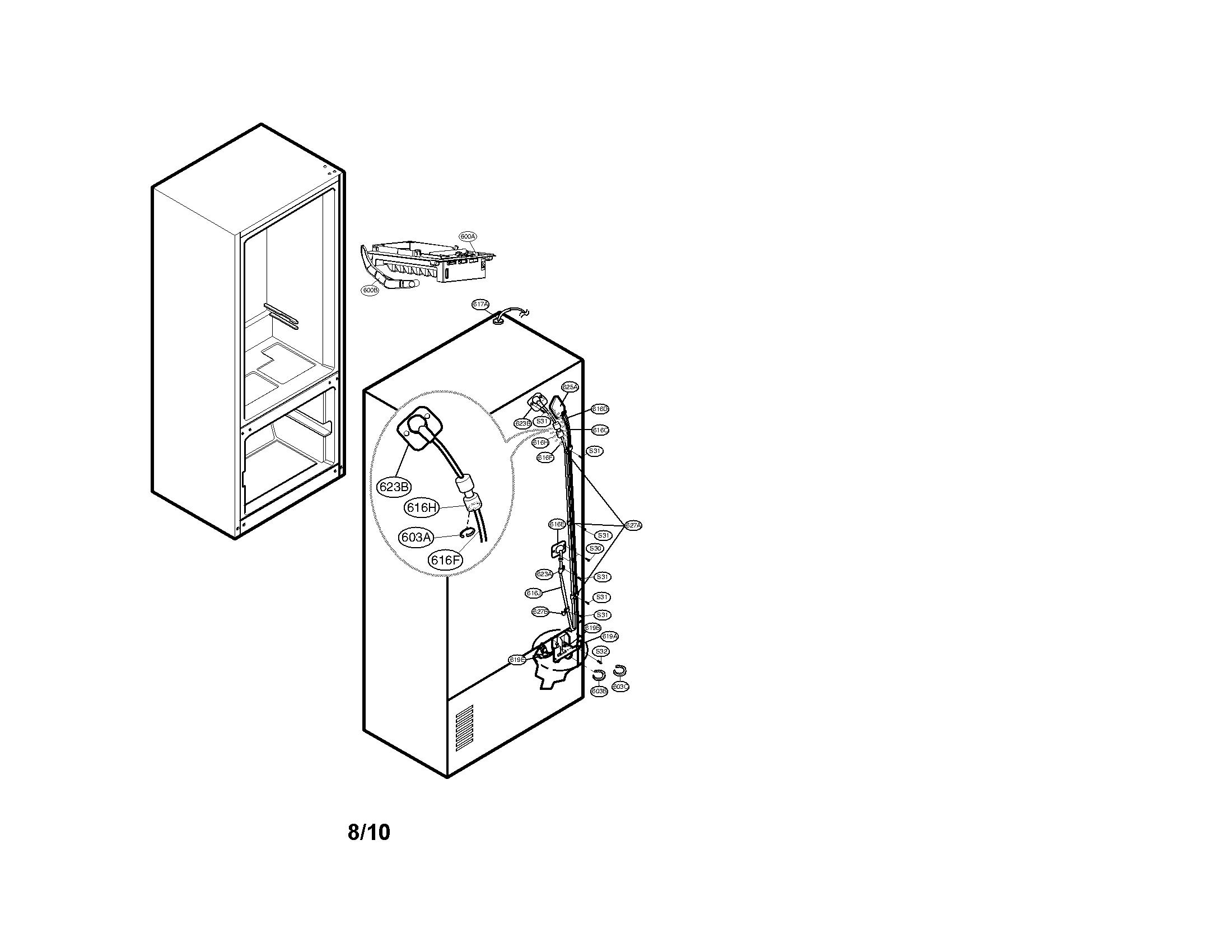 Kenmore-Elite model 79578546806 bottom-mount refrigerator