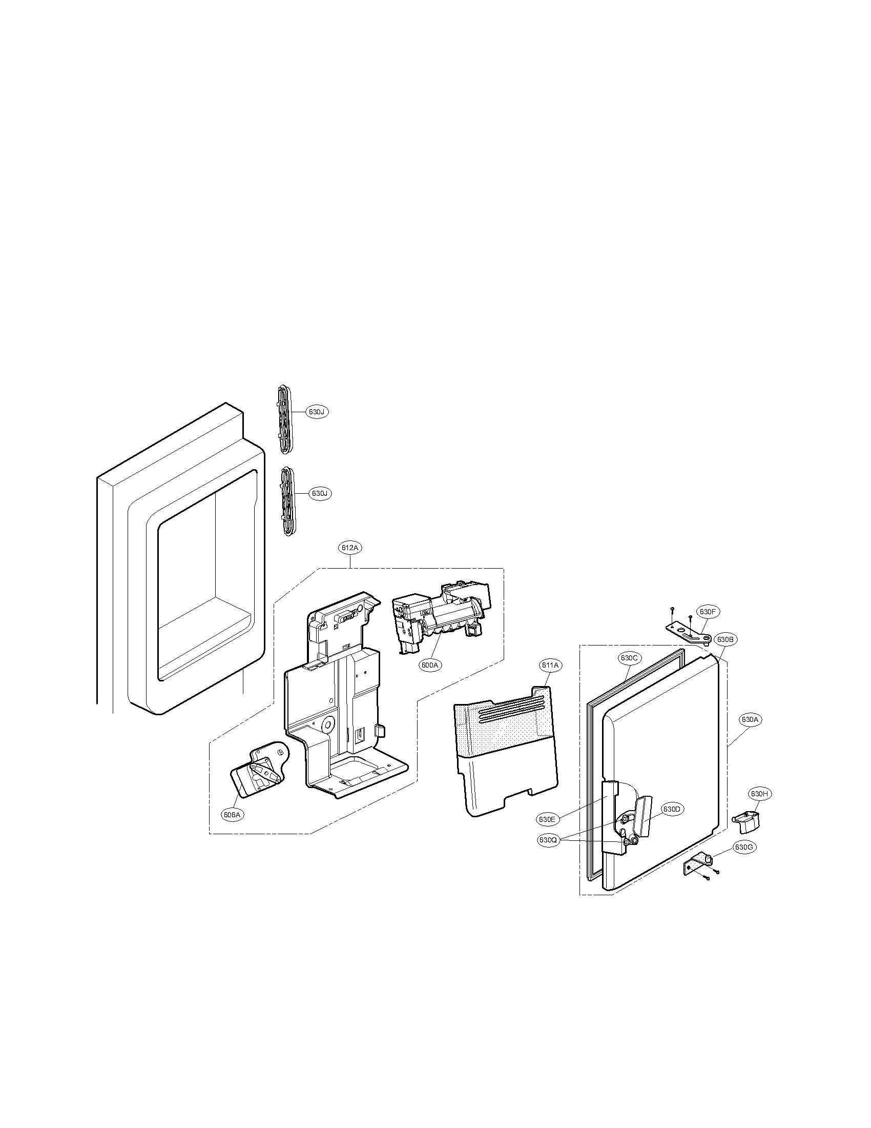 Lg model LMX28988ST/00 bottom-mount refrigerator genuine parts