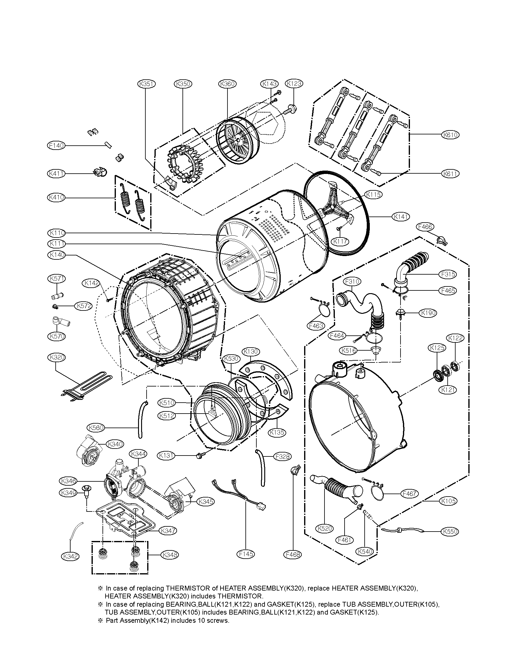 Lg Direct Drive Washing Machine Parts Diagram