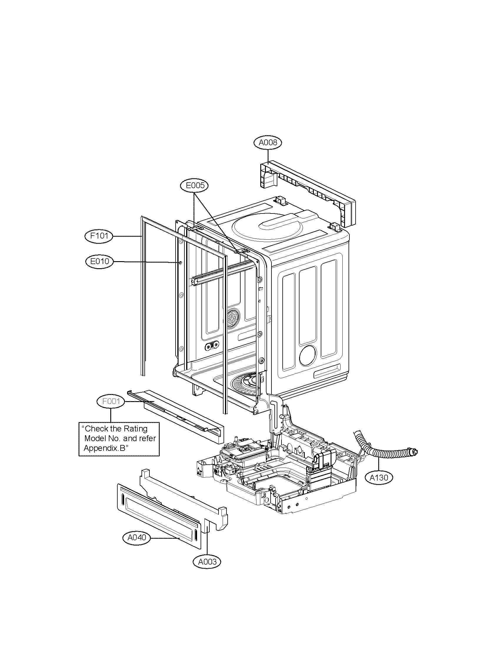 Lg model LDF7932ST dishwasher genuine parts