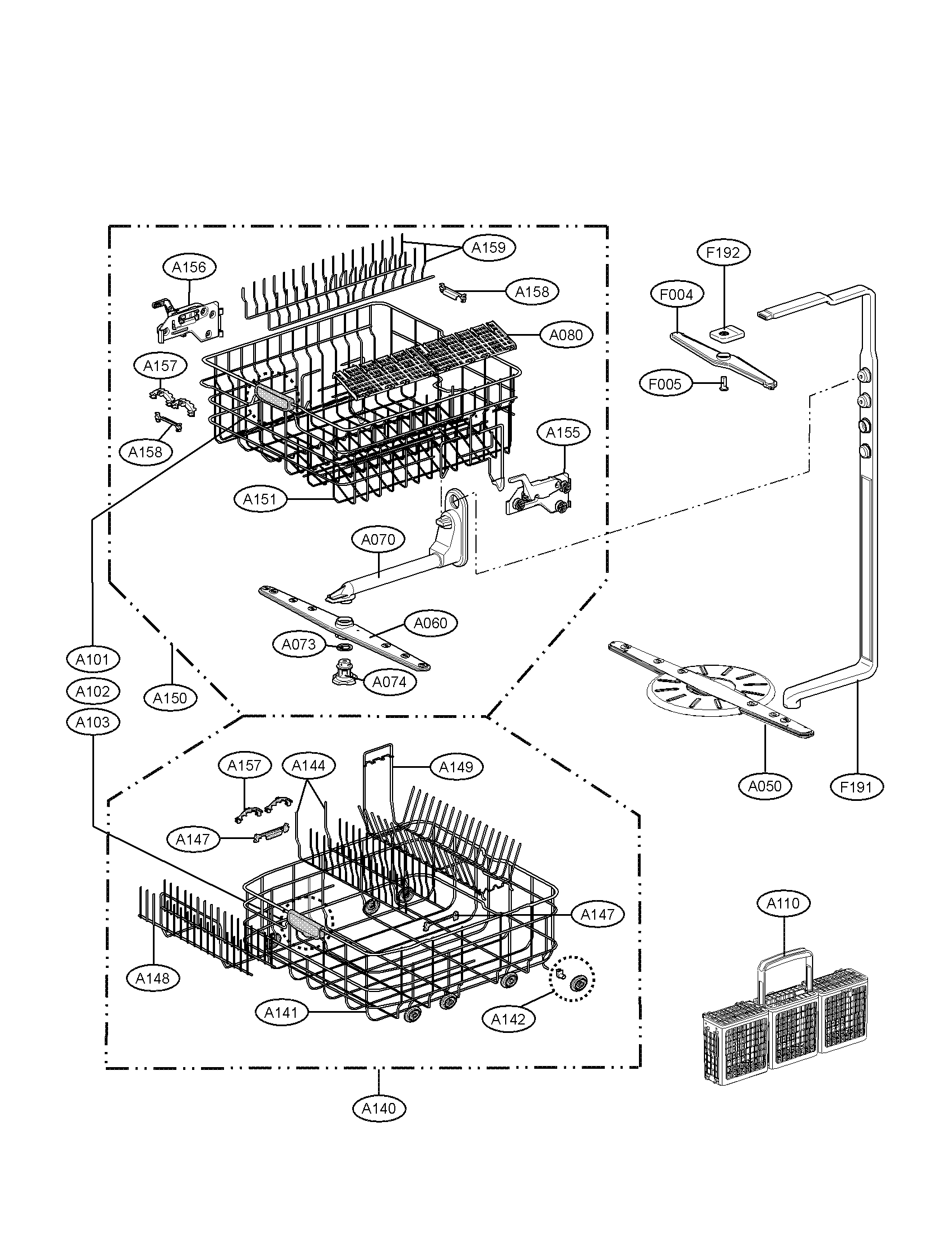 Wiring Diagram: 32 Lg Dishwasher Parts Diagram
