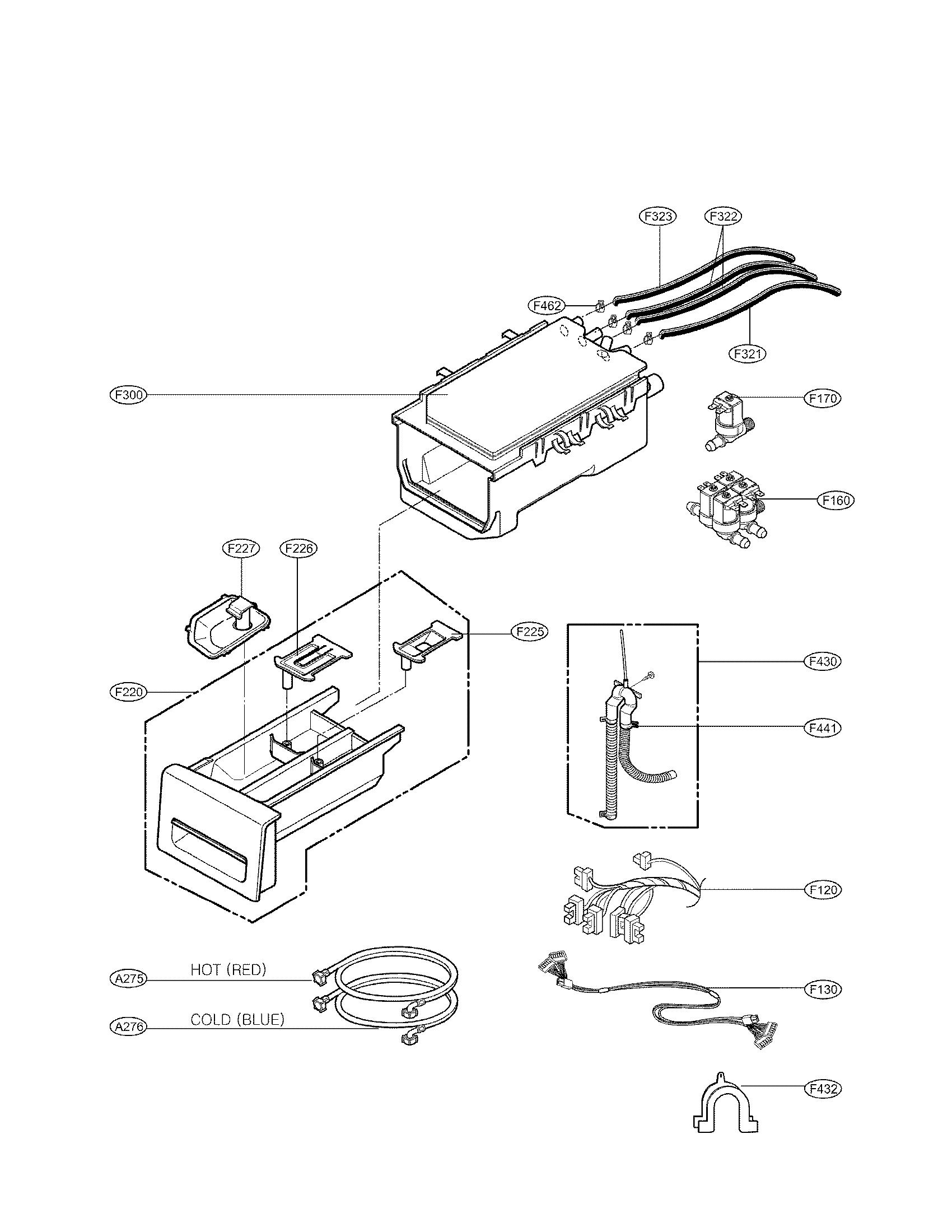Lg model WM3987HW residential washers genuine parts