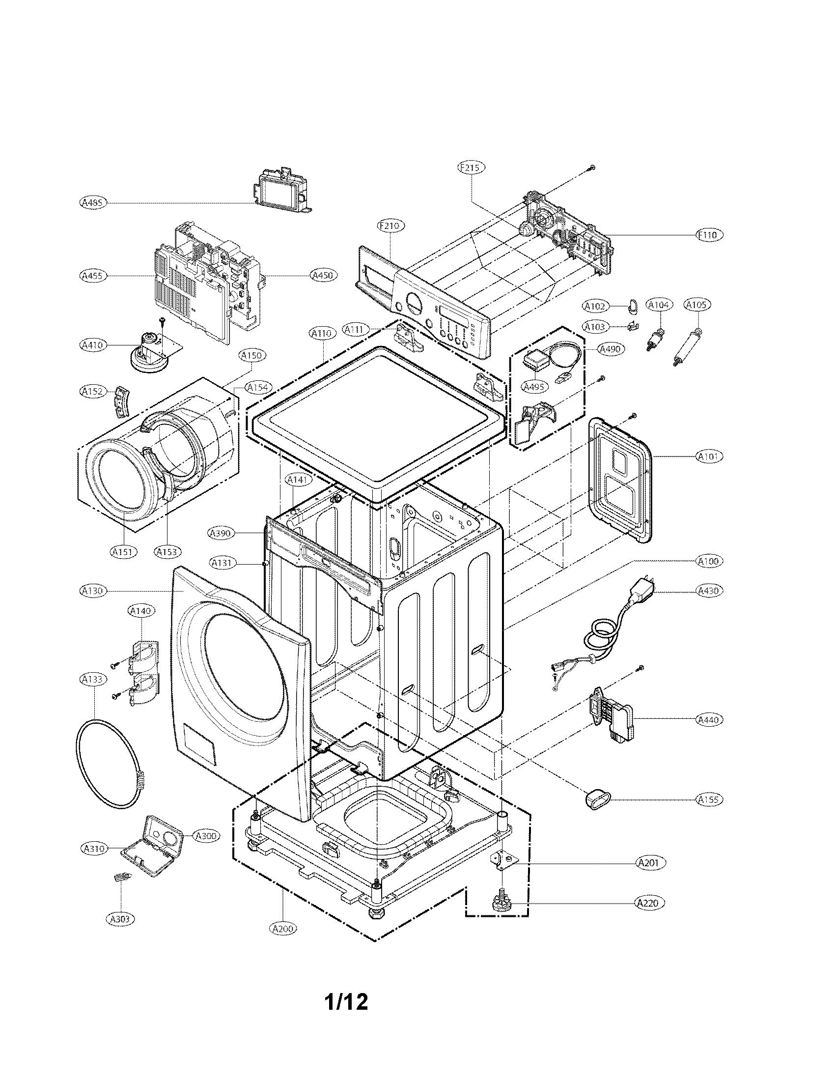 Lg model WM2077CW/00 residential washers genuine parts
