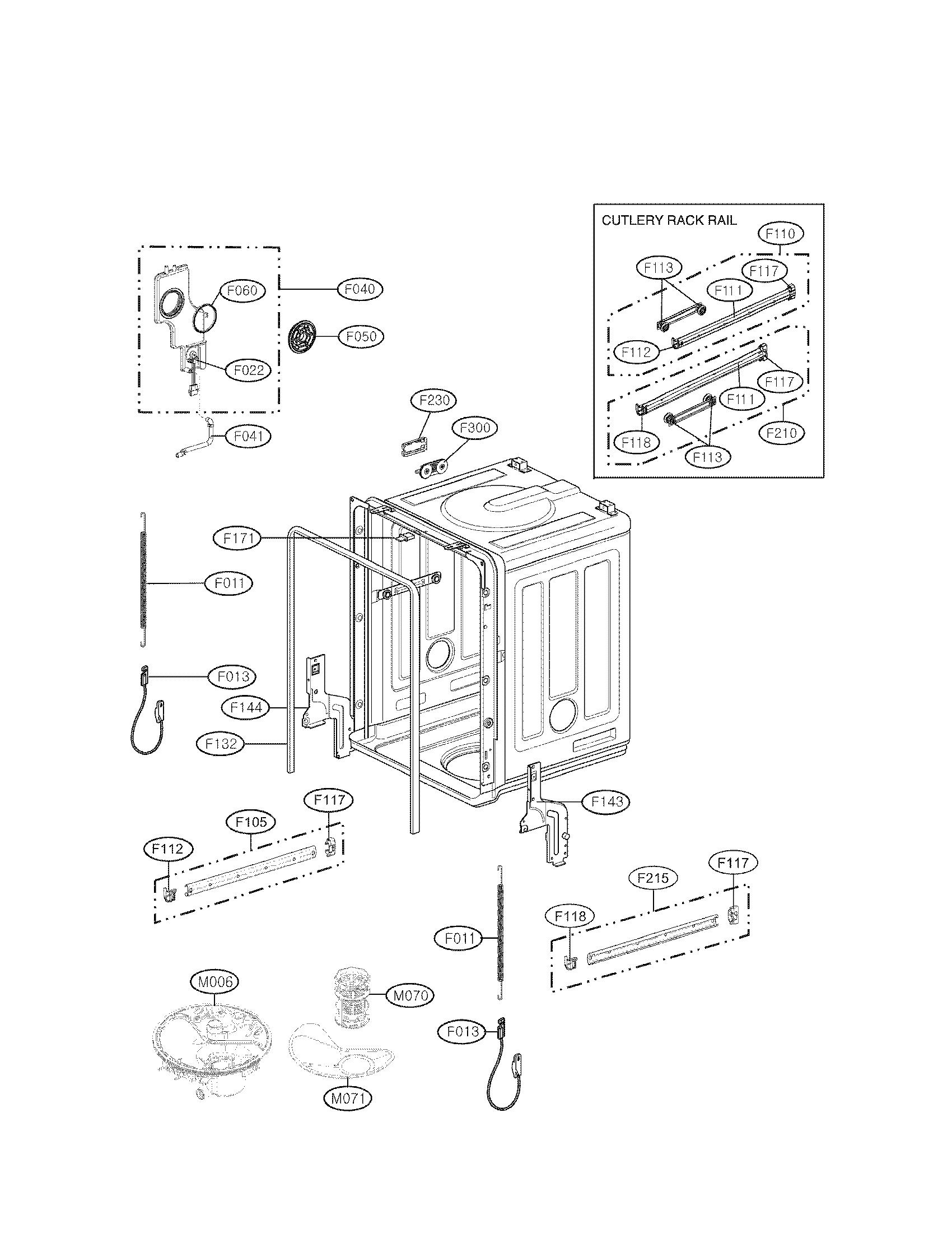Lg model LDF8072ST dishwasher genuine parts