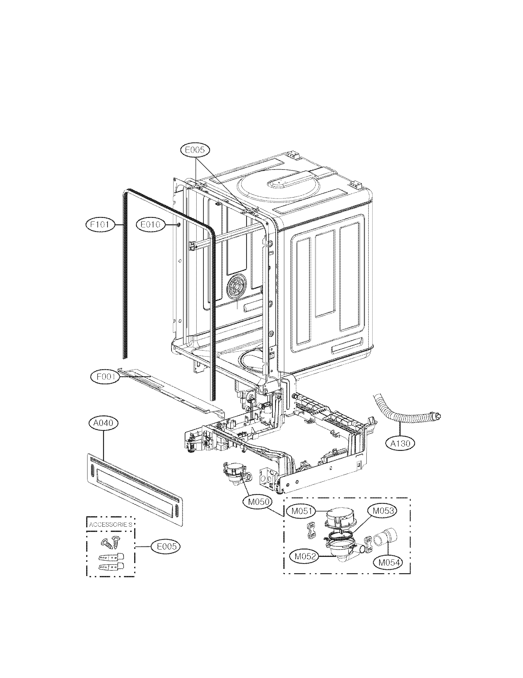 Lg model LDF7551ST dishwasher genuine parts