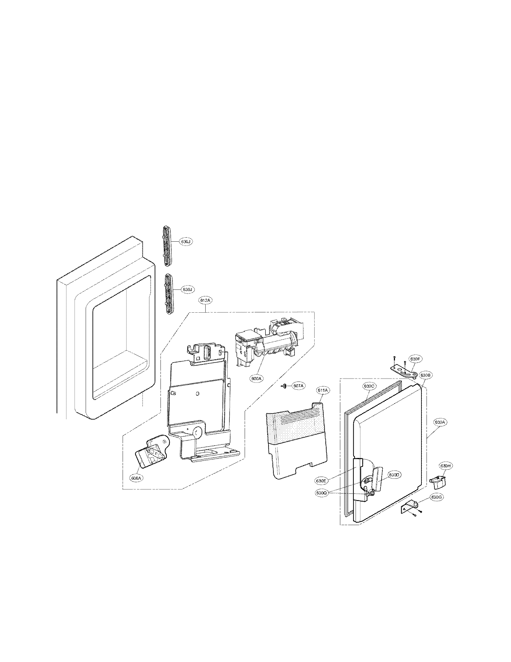 Lg model LFX28968SB/00 bottom-mount refrigerator genuine parts