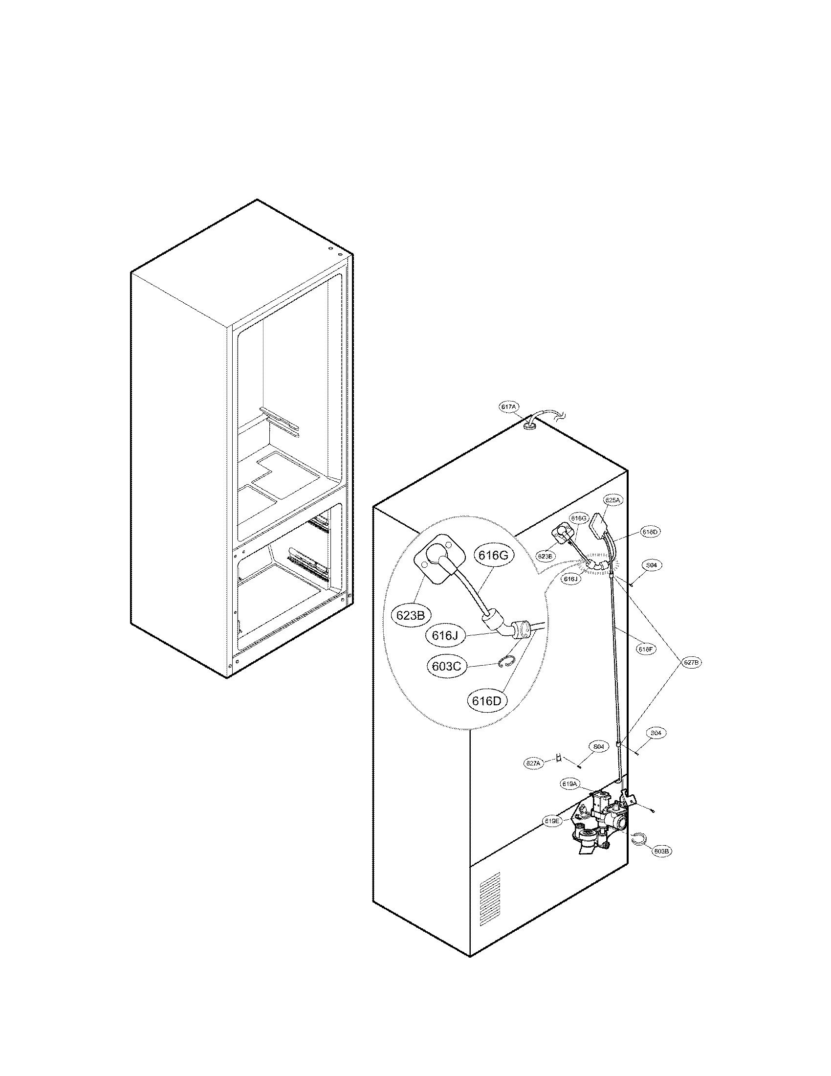 Lg model LFX31945ST bottom-mount refrigerator genuine parts