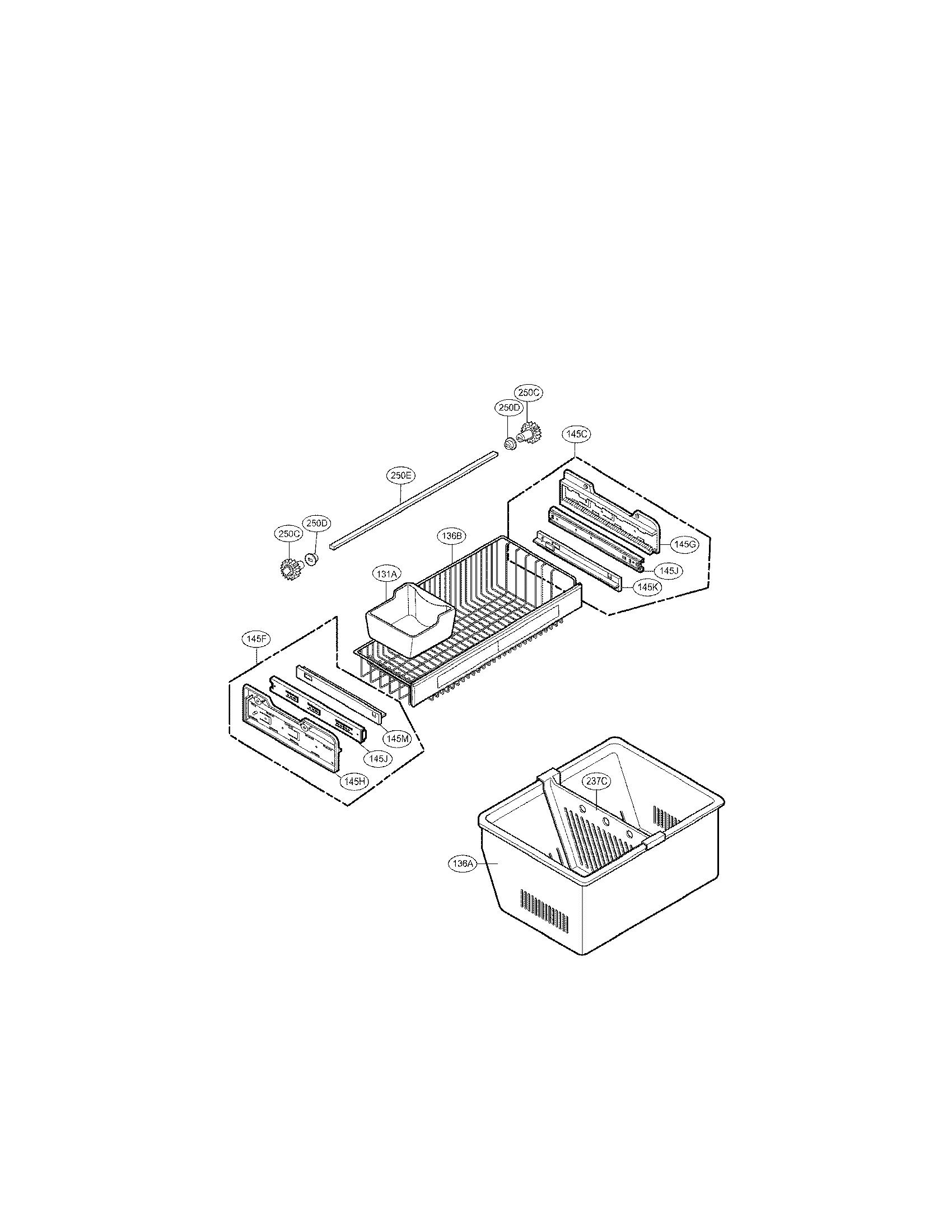 Lg model LFX25971ST/01 bottom-mount refrigerator genuine parts