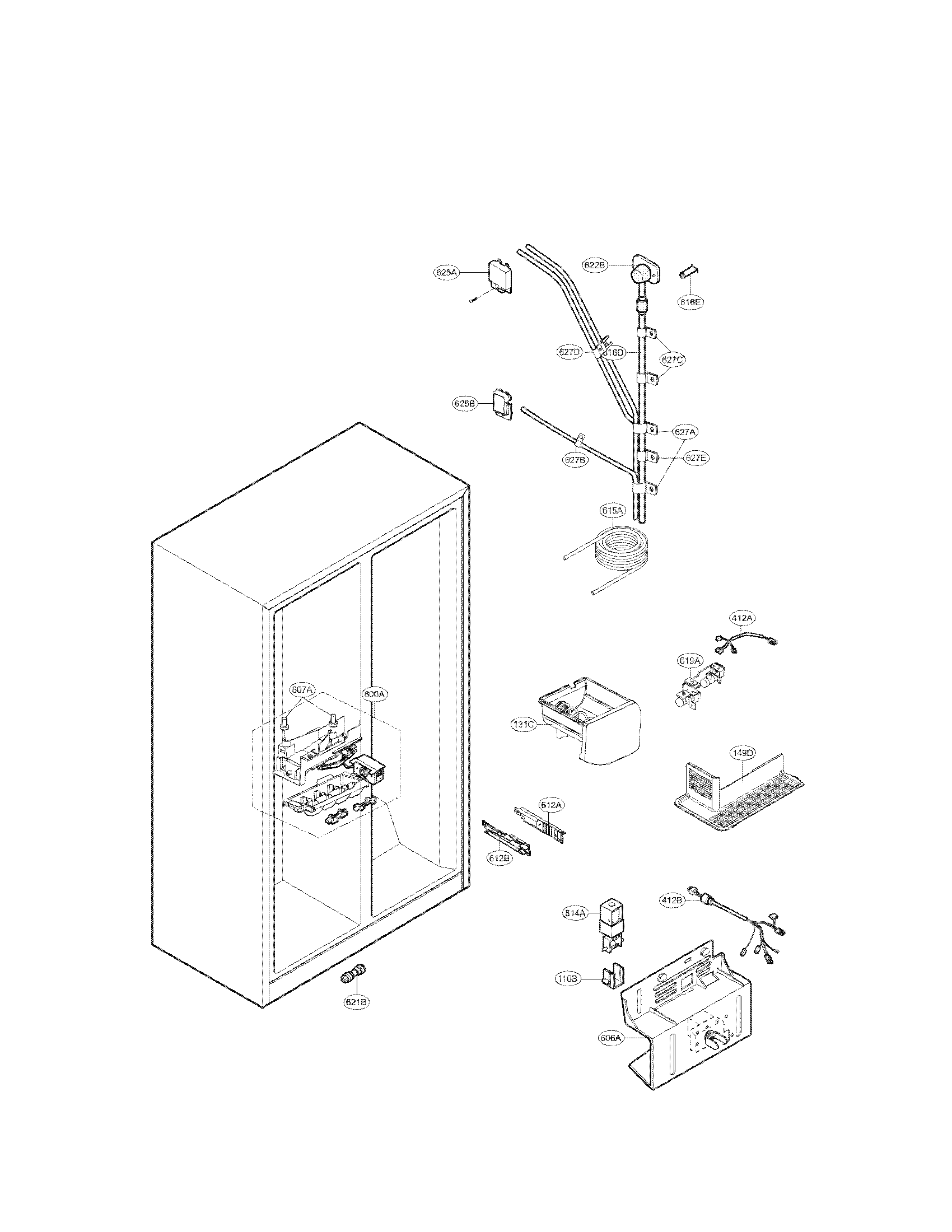 Kenmore model 79551312014 side-by-side refrigerator
