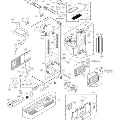 Kenmore 106 Refrigerator Parts Diagram 2 Lights One Switch Wiring Ice Maker Dispenser Door Model