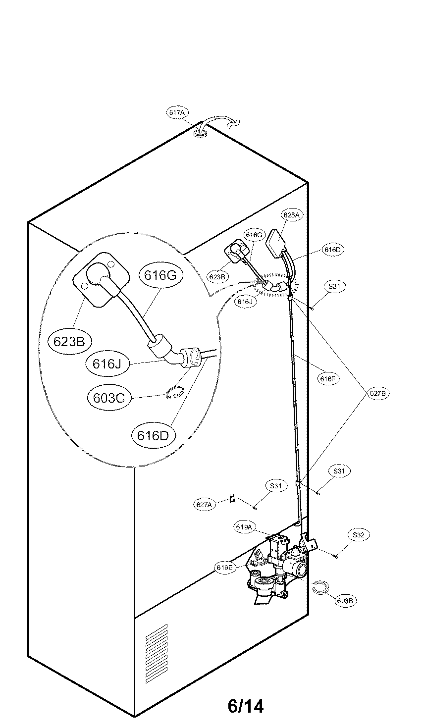 Kenmore-Elite model 79571033010 bottom-mount refrigerator