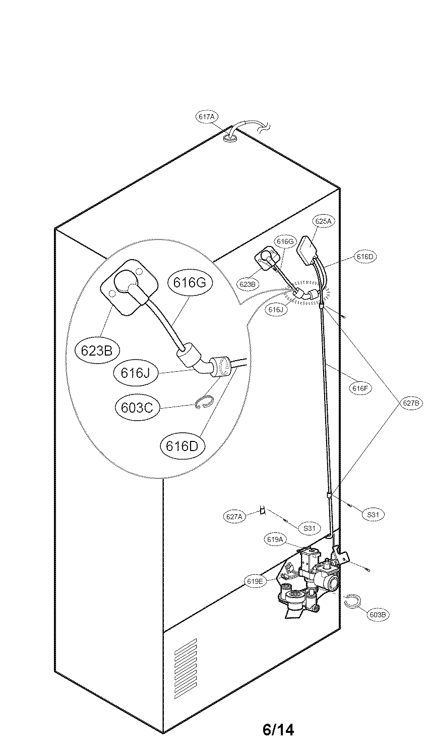 Kenmore-Elite model 79571053014 bottom-mount refrigerator