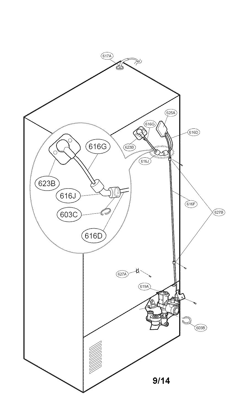 Kenmore model 79573054410 bottom-mount refrigerator
