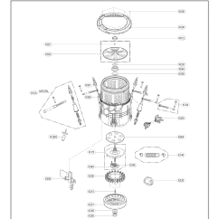 Lg Washing Machine Parts Diagram 2000 Toyota Camry Washer Model Wt1701cv Sears Partsdirect