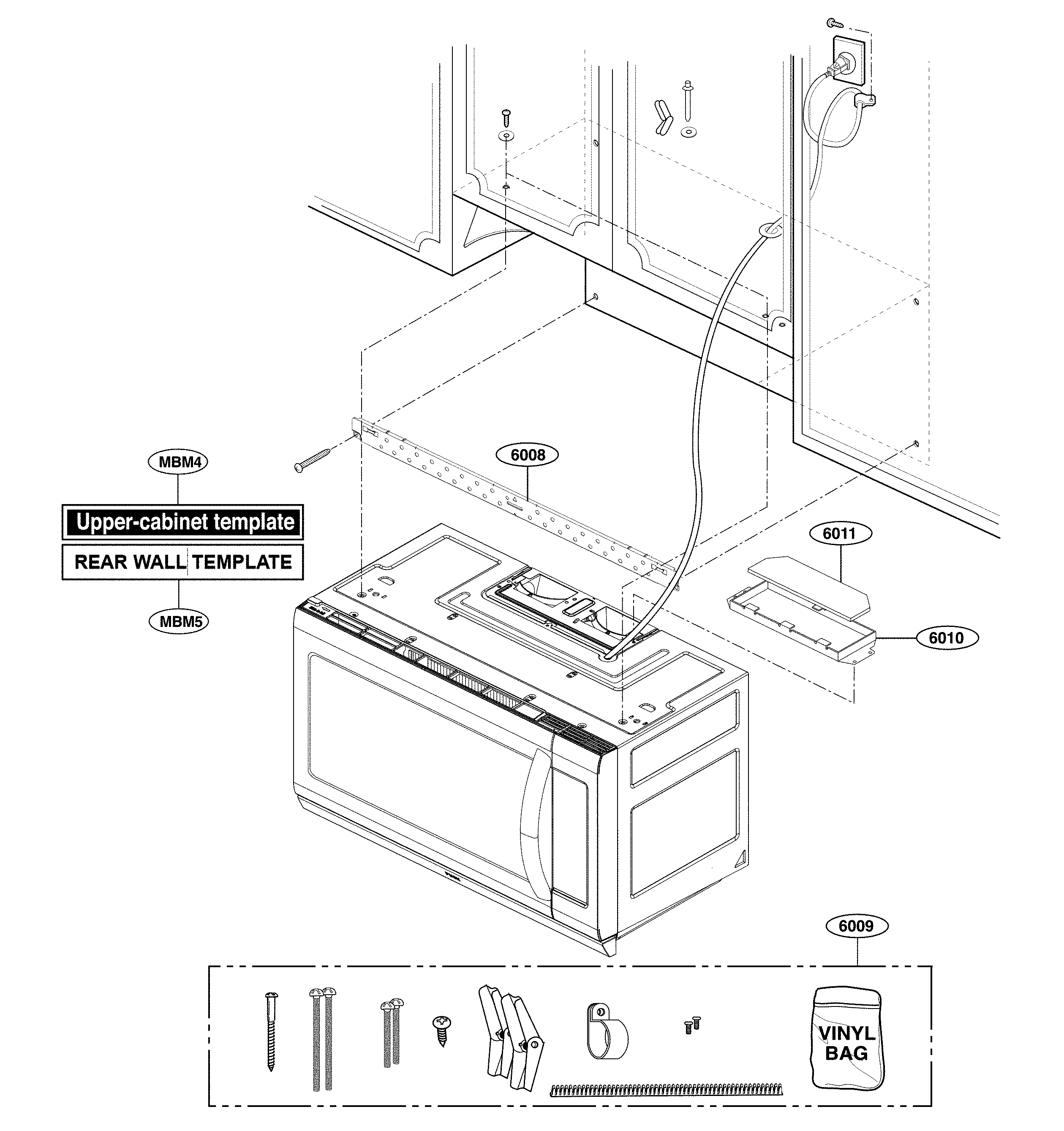 Lg model LMHM2237BD/01 microwave/hood combo genuine parts
