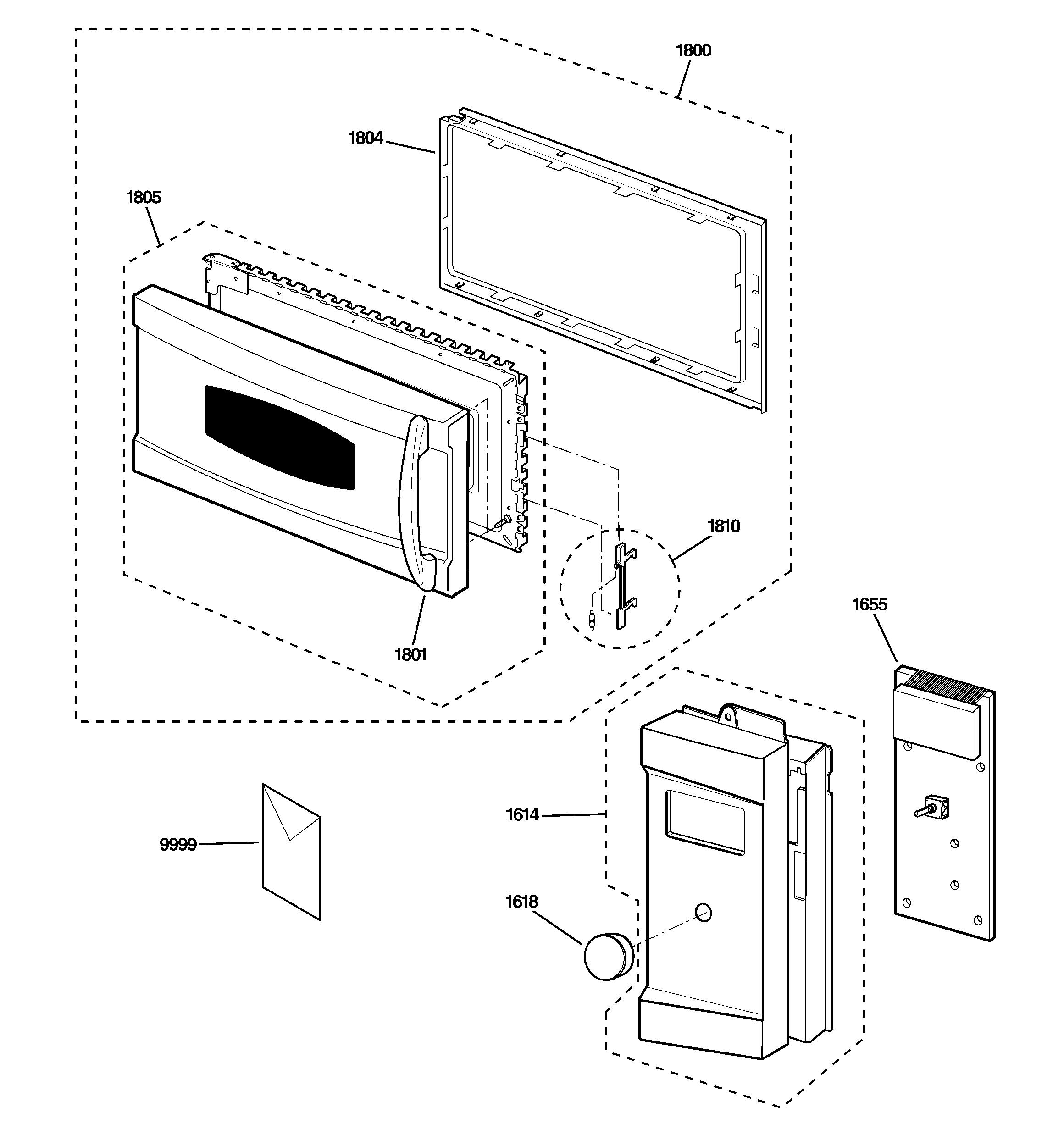 Ge model JVM1490WH01 microwave/hood combo genuine parts