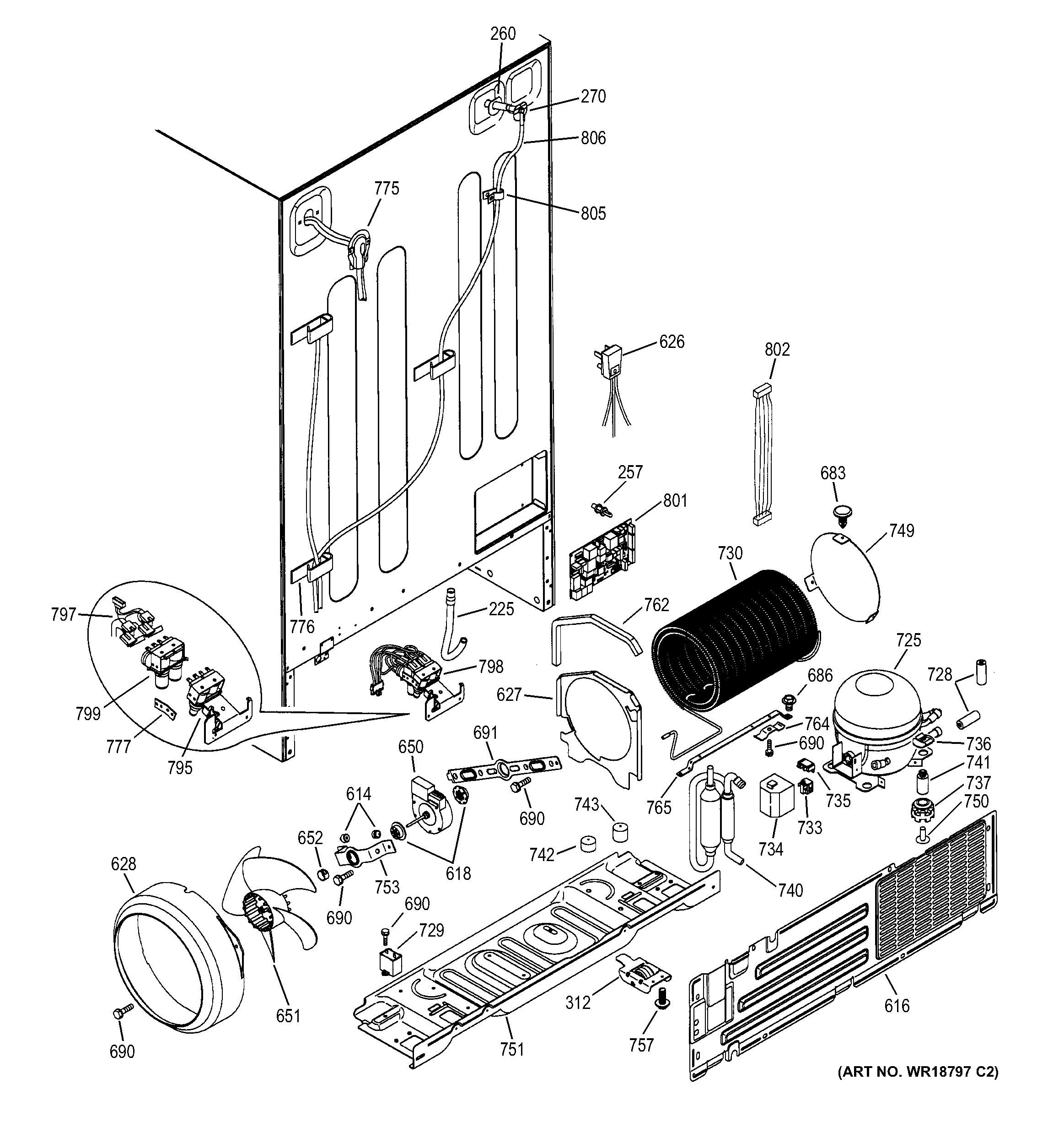 Refrigerator Parts Ge Refrigerator Parts Schematic