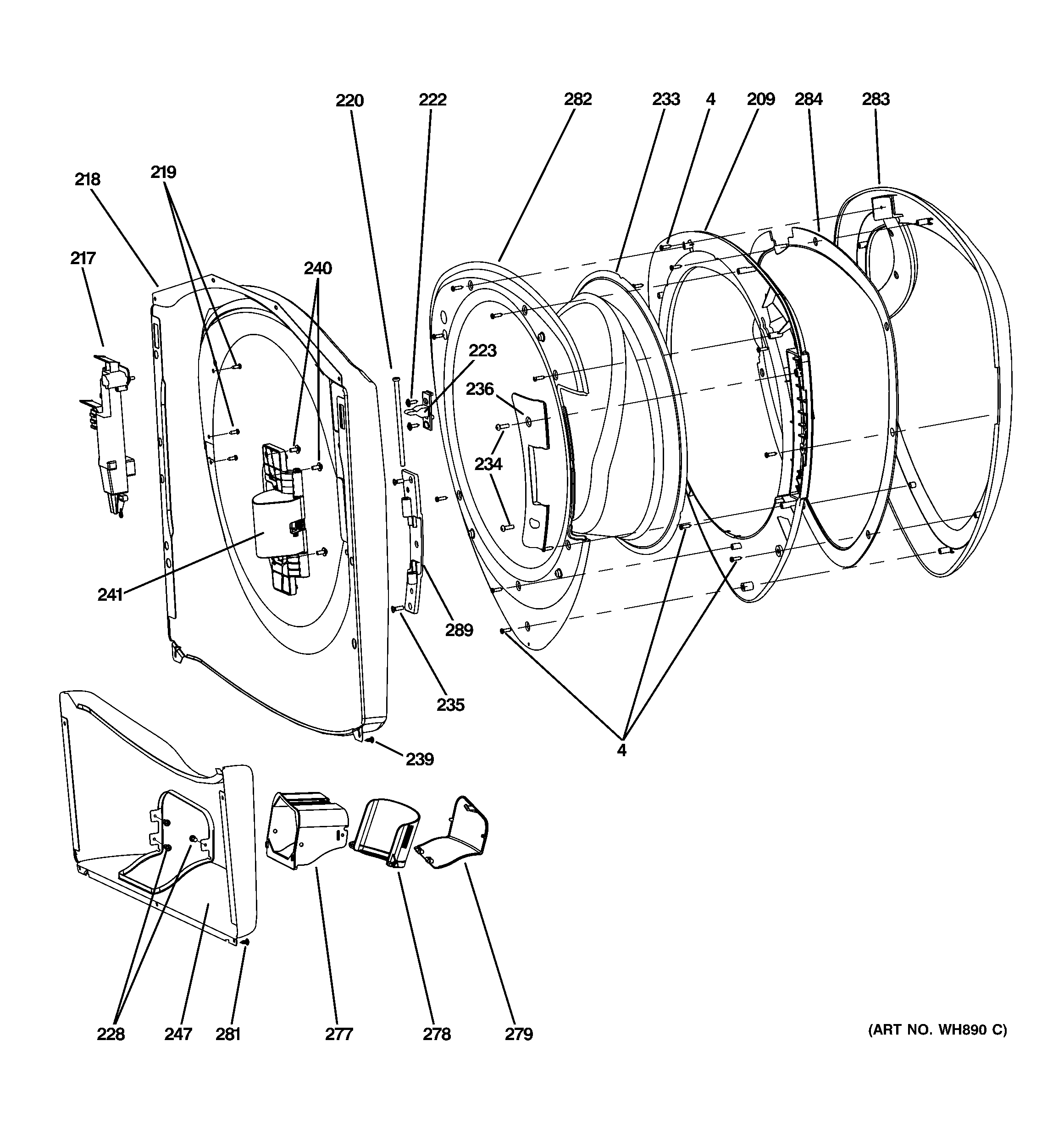 ge front load washer diagram 1994 ford bronco fuel pump wiring model wpdh8800j0mg residential washers genuine parts