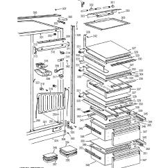 Ge Refrigerator Diagram Megaflow Wiring Y Plan Side By Parts Model Bisb42eld