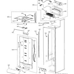 Ge Refrigerator Wiring Diagram Defrost Heater Electrolux Fridge Model Psb48lsrabv Side By Genuine Parts