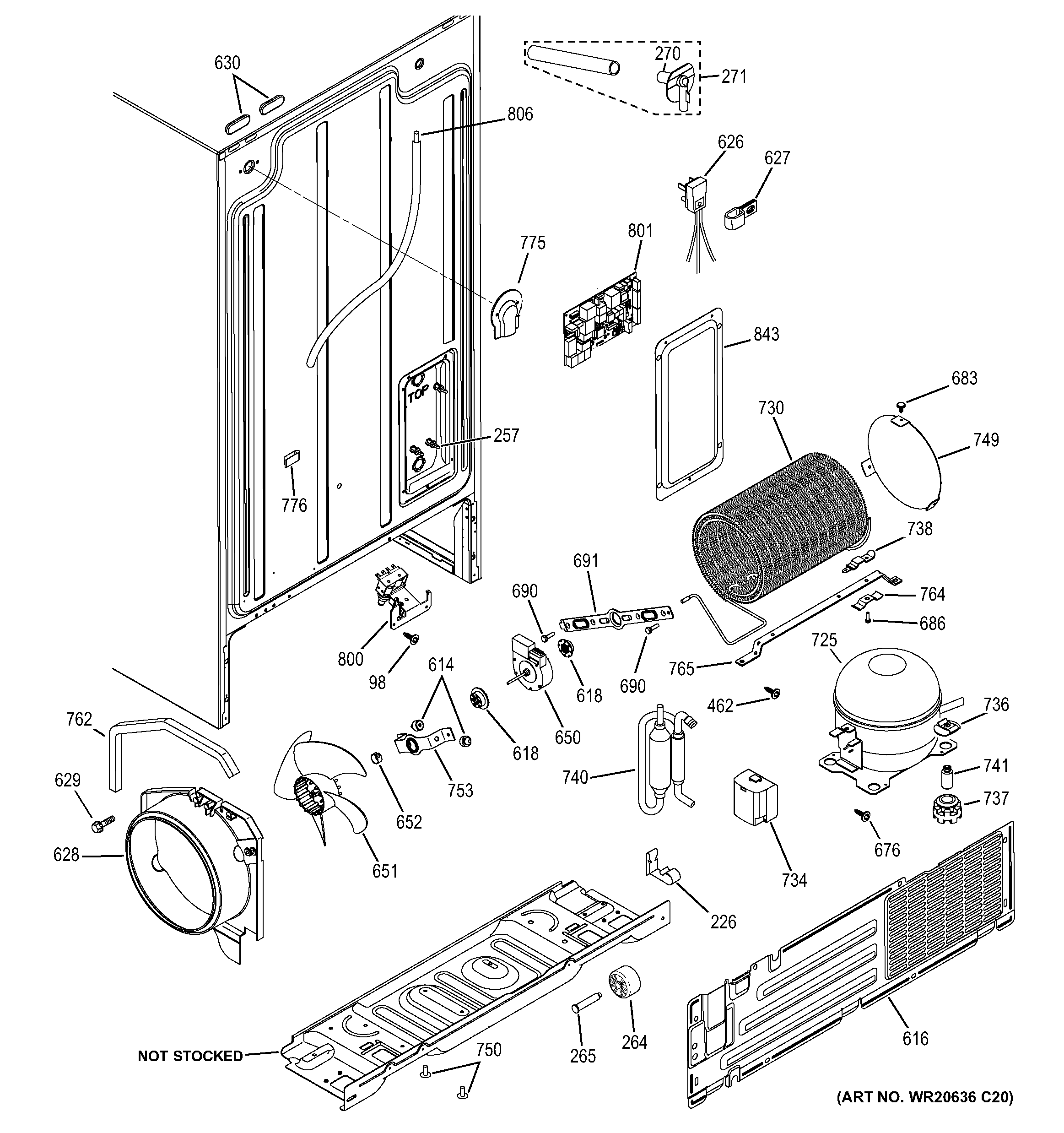 ge refrigerator schematic diagram 1941 ford 9n wiring parts model gse25eshbss sears partsdirect