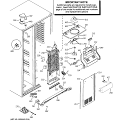 Ge Refrigerator Diagram Bathroom Fan With Timer Wiring Parts Model Gss25gmhbces Sears Partsdirect