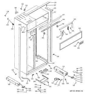 Ge model ZISS480DMA sidebyside refrigerator genuine parts