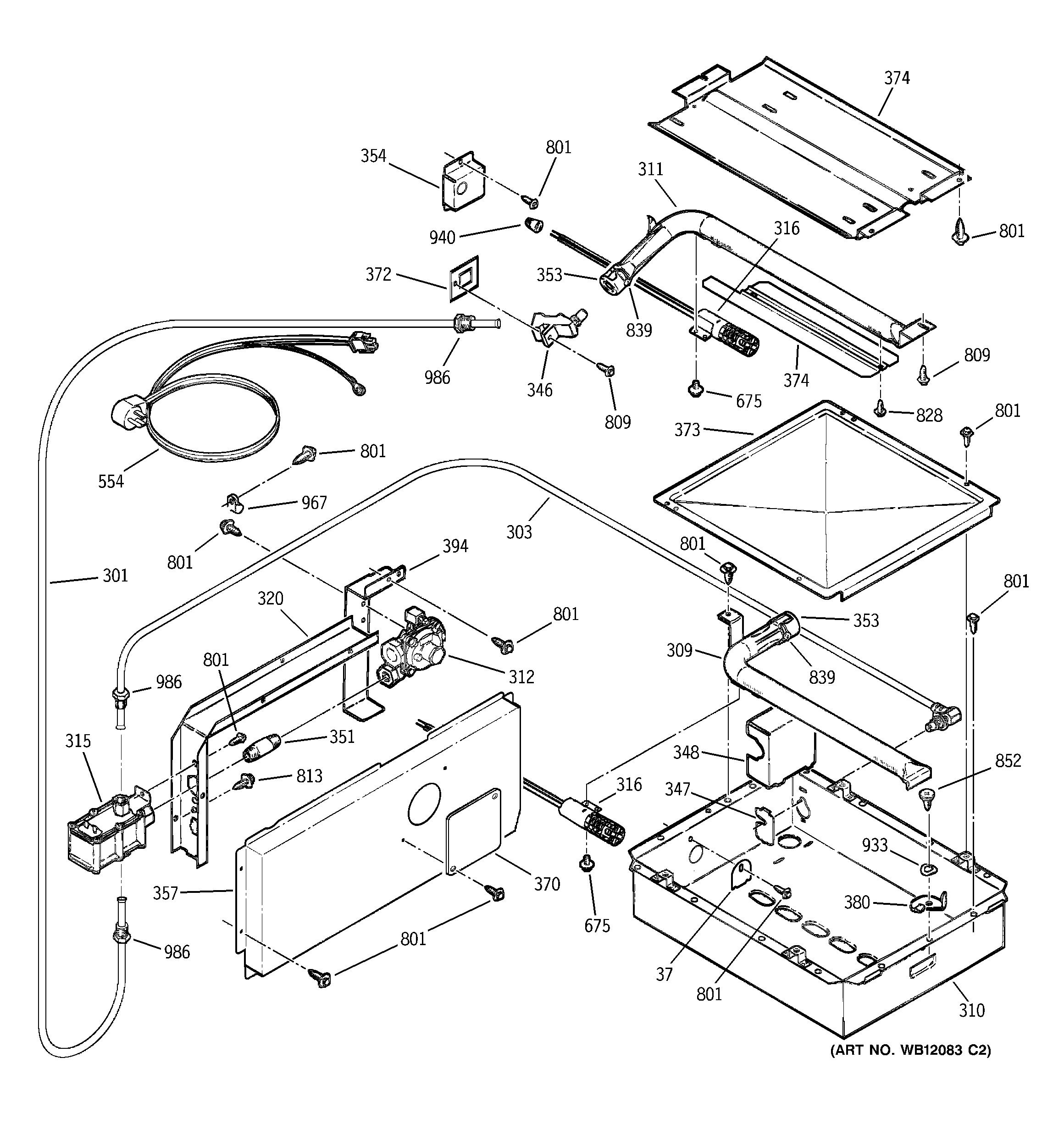 Ge model JGRP20BEJ1BB wall oven, gas genuine parts