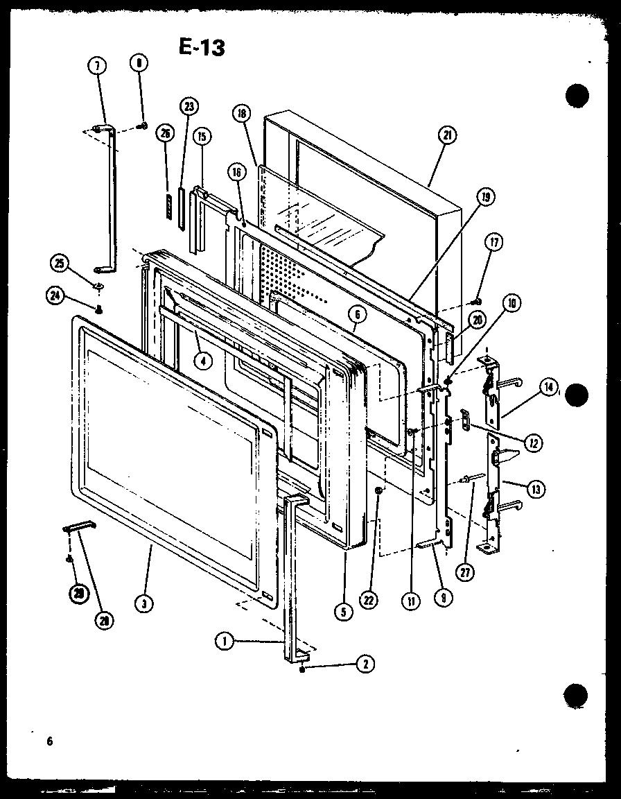 AMANA RADARANGE PLUS MICROWAVE CONVECTION OVEN Parts