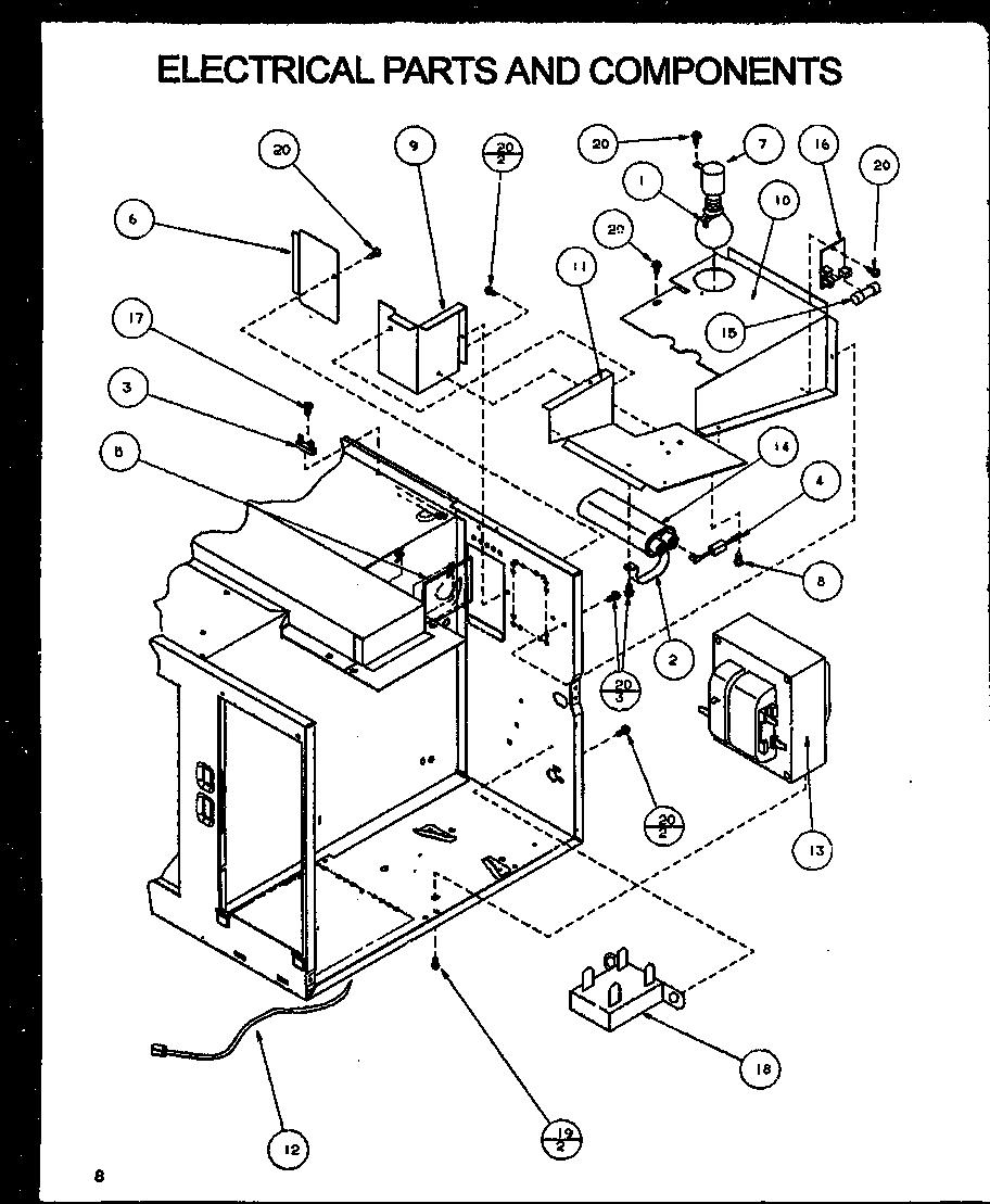 Imperial model NB1000/P1140902M countertop microwave
