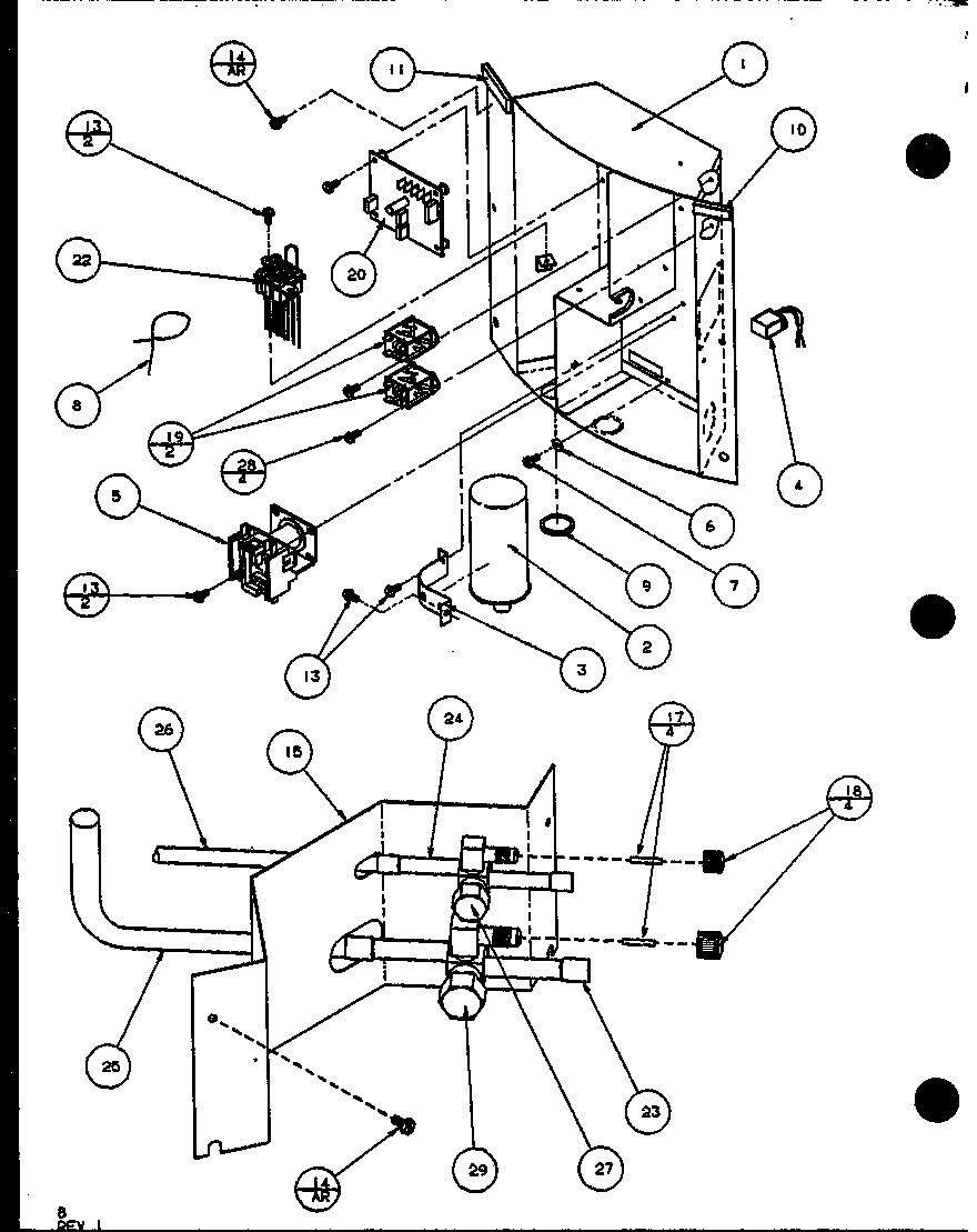 Amana model ARHF30U01D/P1101003C air-conditioner/heat pump