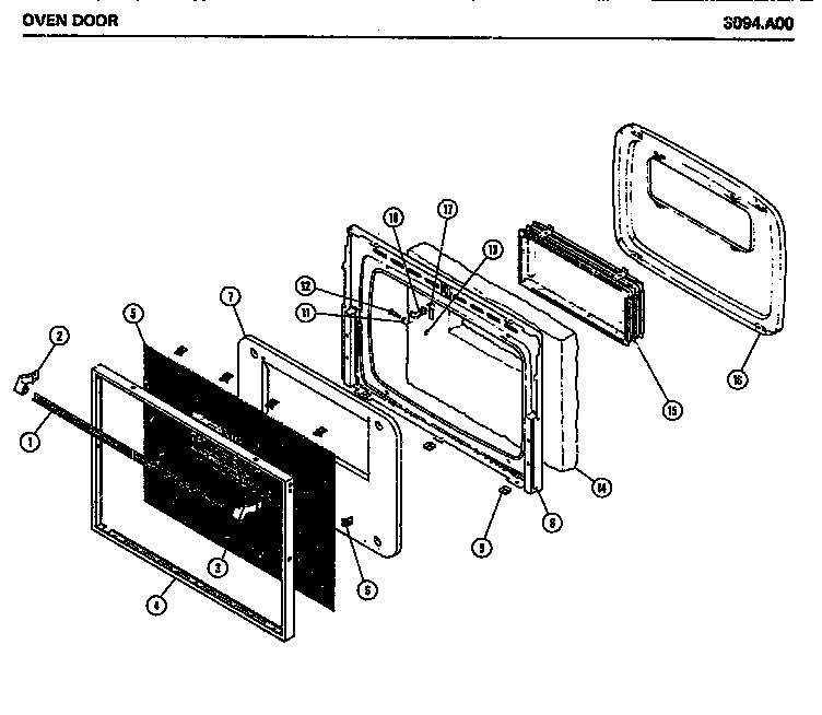 Amana model 3094.A00 range microwave combo, electric