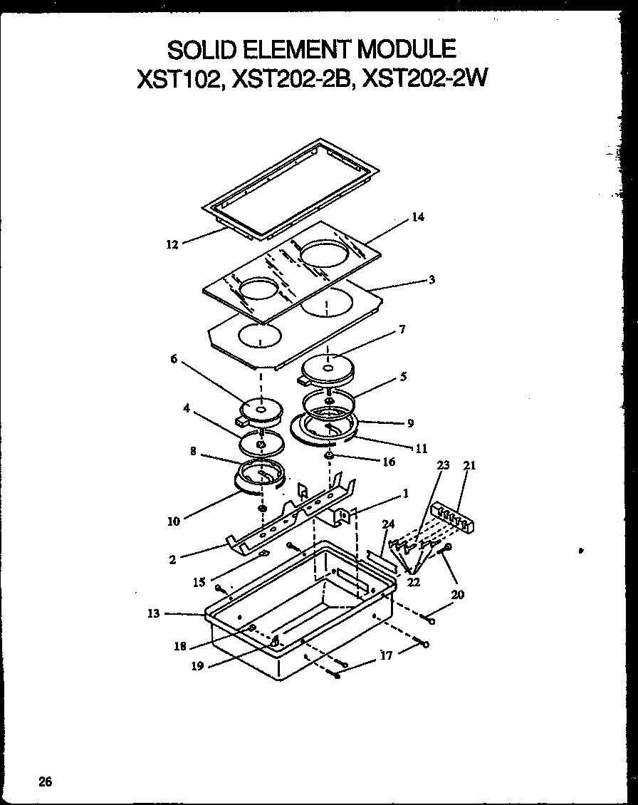 Amana model XST209-2B/P1133345NB module accessories