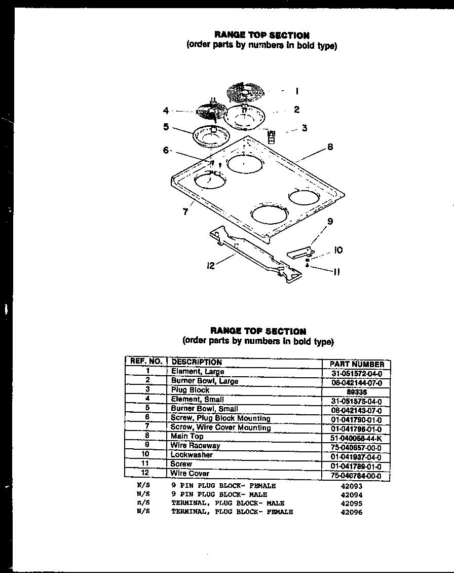 Modern-Maid model FCI122 microwave/hood combo genuine parts