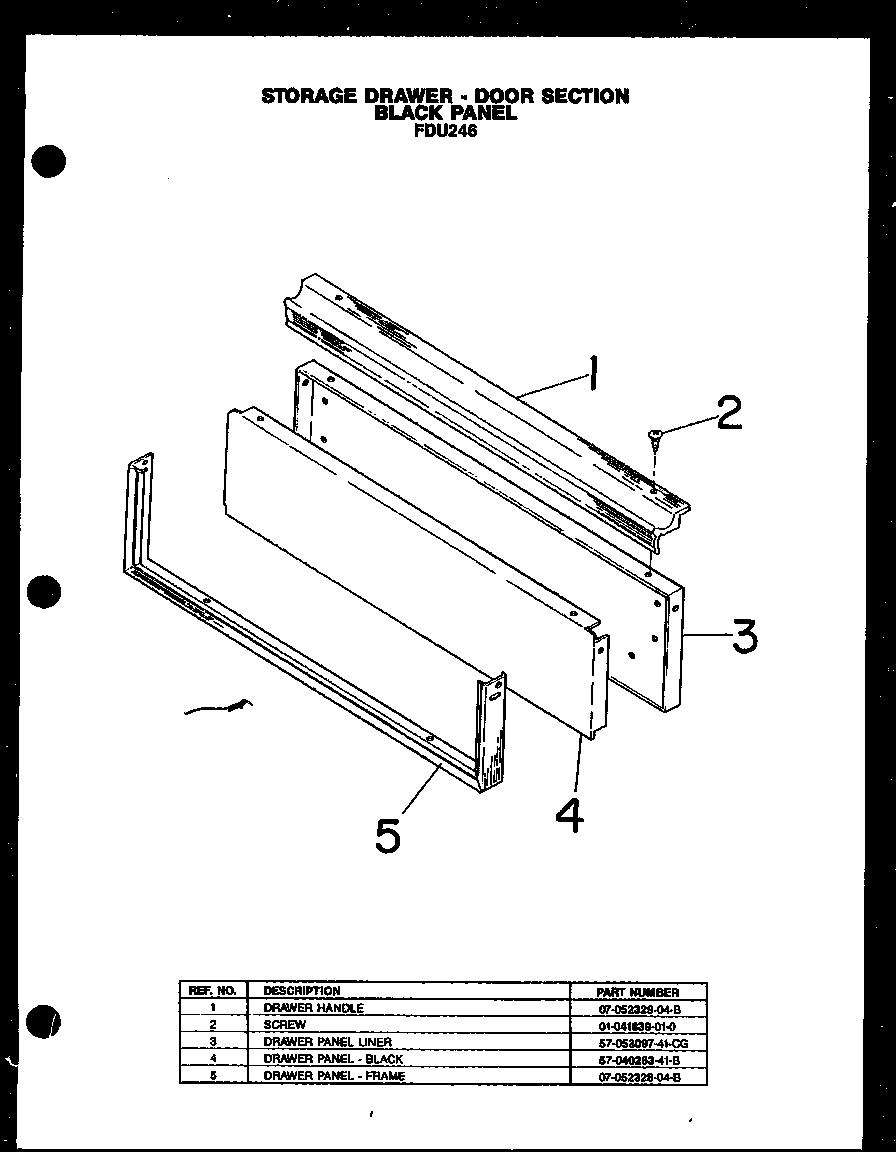Modern-Maid model FDU246 slide-in range, electric genuine