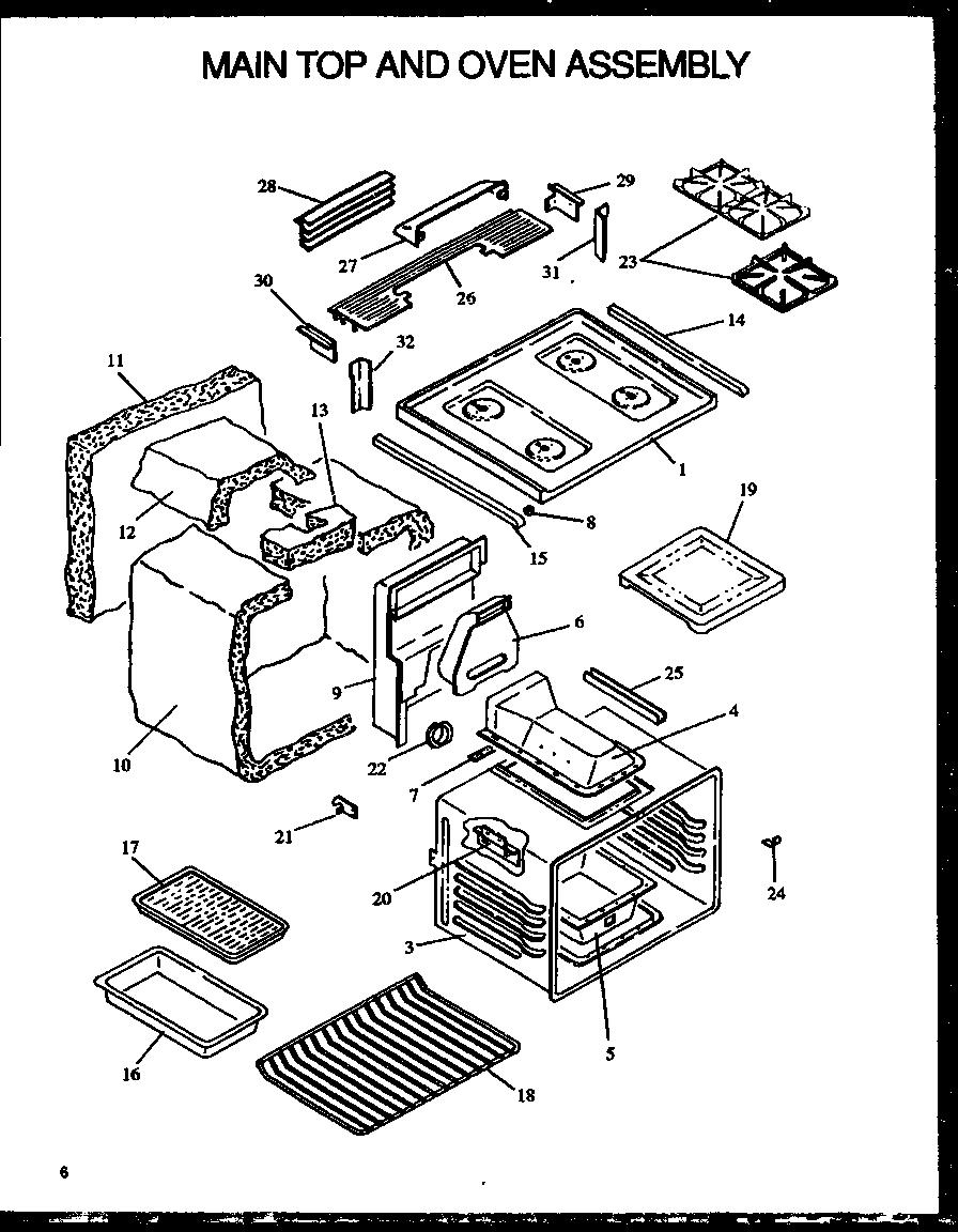Modern-Maid model PHU201UWW/P1130714NW range (gas) genuine