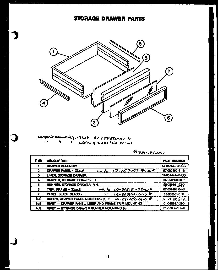 Modern-Maid model PHU185NWW slide-in range, gas genuine parts