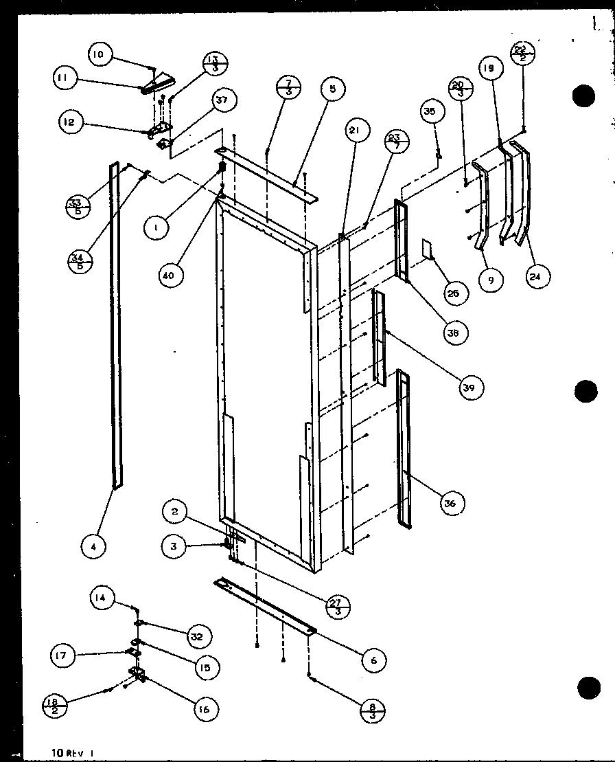 Amana model SZD25MPE-P1121012WE side-by-side refrigerator
