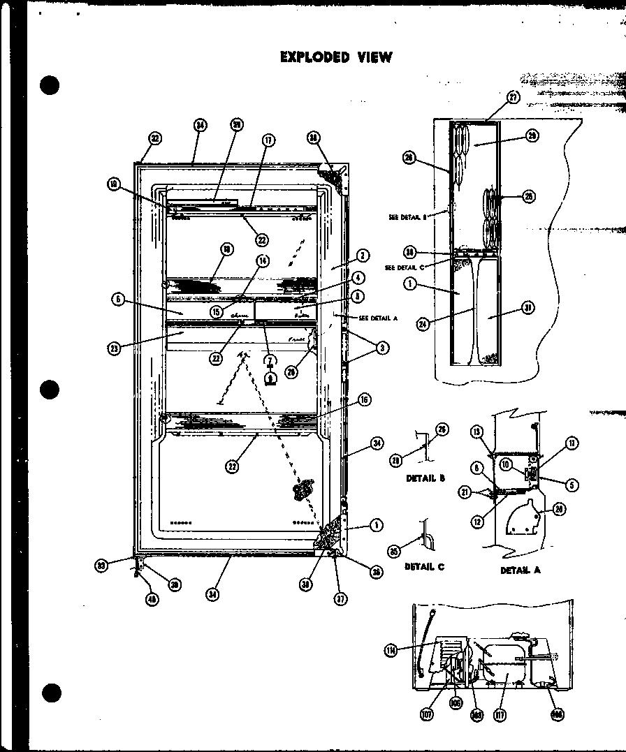 Amana model R15 under counter refrigerator genuine parts