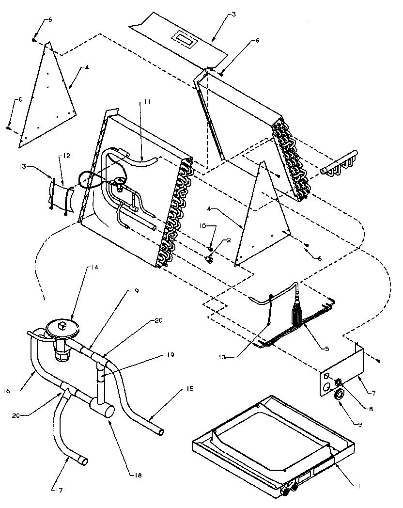 Amana model CHA42TCC/P1203805C air handler (indoor blower