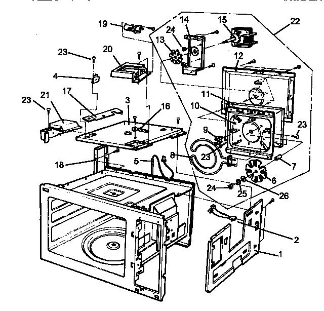 Amana model RMC800E/P1180501M countertop microwave genuine