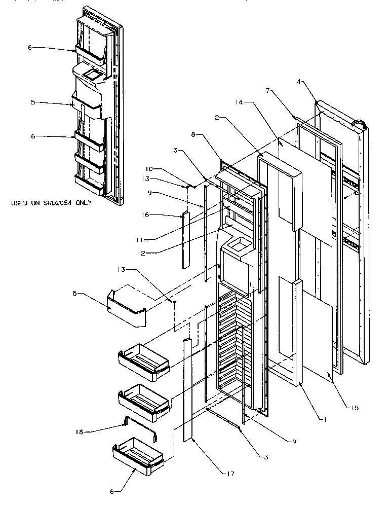 Amana model SRD25S5E-P1190302WE side-by-side refrigerator