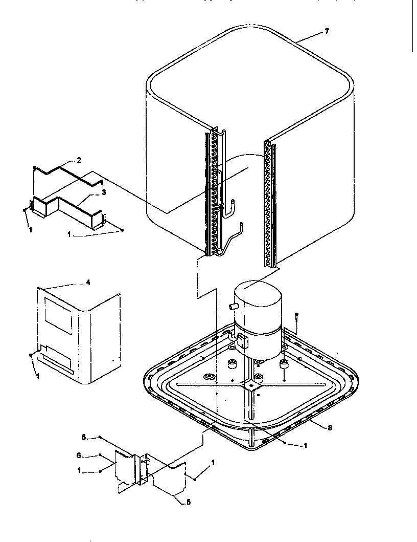 Amana model RCC60A2B/P1172417C air-conditioner/heat pump