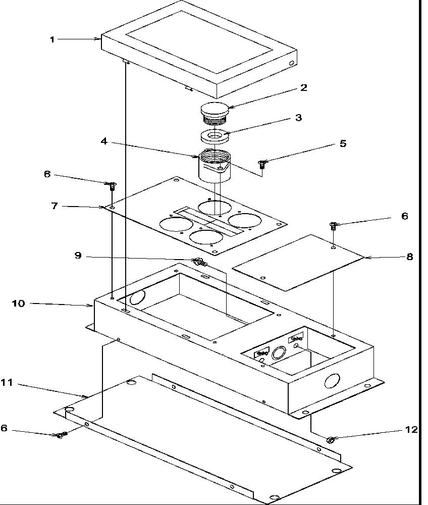 Amana model AKH30-P8597801S counter unit electric genuine
